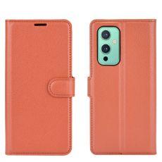 LN suojalaukku OnePlus 9 brown