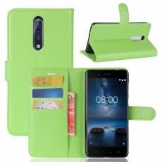 Luurinetti Nokia 8 Flip Wallet green