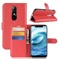 Luurinetti Flip Wallet Nokia 5.1 Plus red