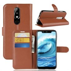 Luurinetti Flip Wallet Nokia 5.1 Plus brown
