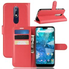 Luurinetti Flip Wallet Nokia 7.1 red