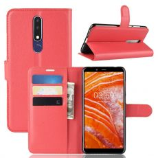 Luurinetti Flip Wallet Nokia 3.1 Plus red