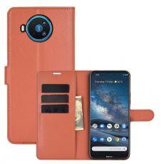 LN Flip Wallet Nokia 8.3 5G Brown