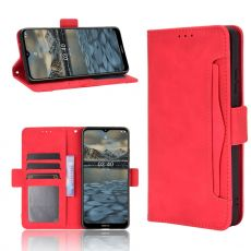 LN 5card Flip Wallet Nokia 2.4 Red