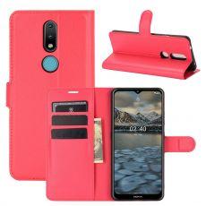 LN Flip Wallet Nokia 2.4 Red