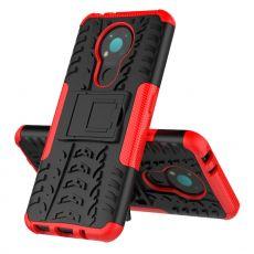 LN kuori tuella Nokia 3.4 red