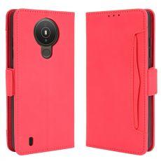 LN 5card Flip Wallet Nokia 1.4 red