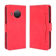 LN 5card Flip Wallet Nokia X10/X20 red