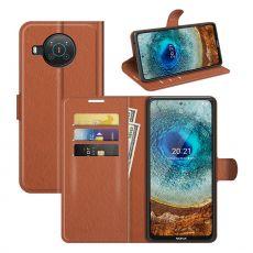 LN Flip Wallet Nokia X10/X20 brown