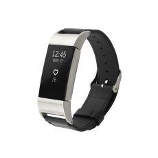 Luurinetti ranneke nahka Fitbit Charge 2 black