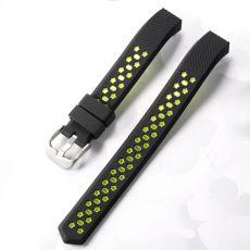Luurinetti ranneke silikoni Fitbit Alta HR black/green