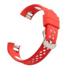Luurinetti ranneke silikoni Fitbit Alta HR red/white