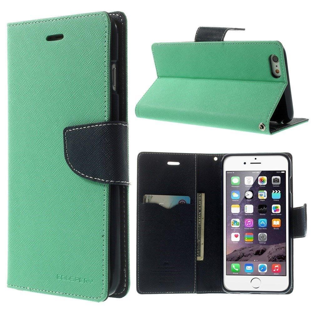 Goospery Iphone 6 6s Plus Suojakotelo Cyan Black Fancy Diary Case Brown