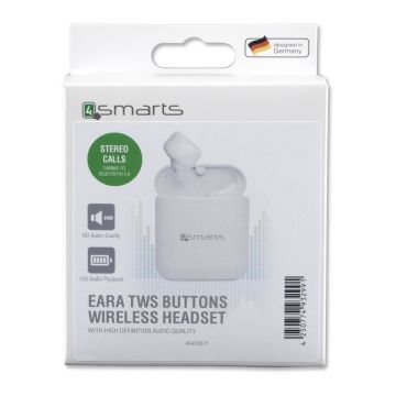 4smarts True Wireless Stereo Headset Eara TWS Buttons white