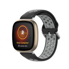 LN ranneke silikoni Fitbit Sense/Versa 3 black/grey