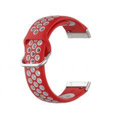 LN ranneke silikoni Fitbit Sense/Versa 3 red/grey
