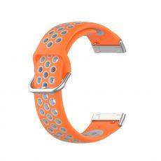 LN ranneke silikoni Fitbit Sense/Versa 3 orange/grey