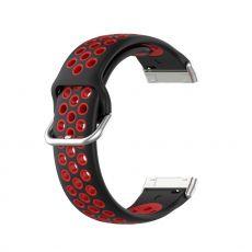 LN ranneke silikoni Fitbit Sense/Versa 3 black/red