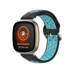 LN ranneke silikoni Fitbit Sense/Versa 3 black/blue