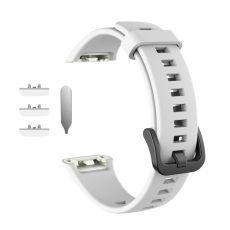 LN vaihtoranneke silikoni Huawei/Honor Band 6 white