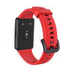 LN vaihtoranneke silikoni Huawei/Honor Band 6 red