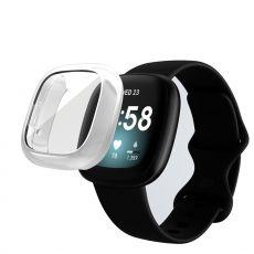 LN TPU-suoja Fitbit Sense/Versa 3 silver