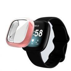 LN TPU-suoja Fitbit Sense/Versa 3 pink