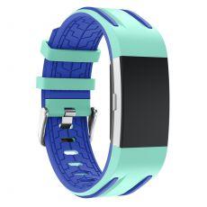 Luurinetti ranneke silikoni Charge 2 cyan/blue