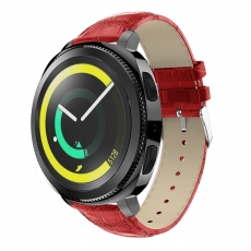 LN Sport/Watch 42 mm/ Active ranneke nahka croco red