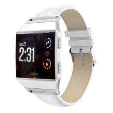 Luurinetti ranneke nahka Fitbit Ionic white
