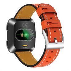 LN ranneke nahka Fitbit Versa orange