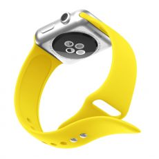 LN Watch 38/40 mm ranneke silikoni yellow