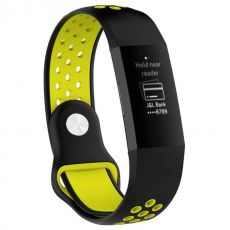 LN ranneke Fitbit Charge 3/4 silikoni S black/yellow