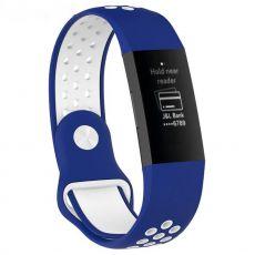 LN ranneke Fitbit Charge 3/4 silikoni S blue/white