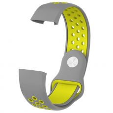 LN ranneke Fitbit Charge 3/4 silikoni L grey/yellow