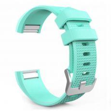 Luurinetti ranneke silikoni Fitbit Charge 2 cyan