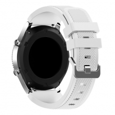 LN Gear S3/Watch 46mm ranneke silikoni white