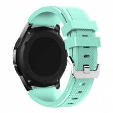 LN Gear S3/Watch 46mm ranneke silikoni cyan