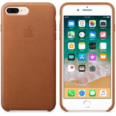 Apple iPhone 7/8 Plus Leather Case Saddle Brown