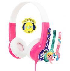 BuddyPhones Discover lasten kuulokke pink