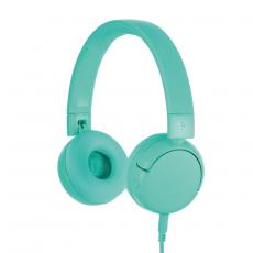 BuddyPhones POP langattomat lasten kuulokkeet turquoise