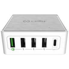 Celly ProPower latausasema 4XUSB + 1XUSB-C 60W