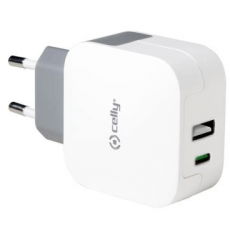 Celly verkkolaturi 1 X Type-C + 1 X USB 3.4A