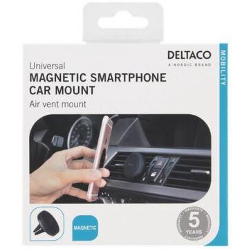 Deltaco magneettiteline autoon black