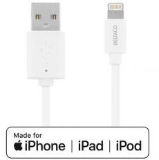 Deltaco USB - Lightning -kaapeli 300 cm white
