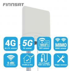 Finnsat MIMO-antenni 3G/4G/5G-verkkoihin 6 dBi 360° FS1500