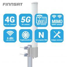 Finnsat MIMO-paaluantenni 3G/4G/5G-verkkoihin FS3500