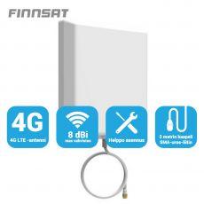 Finnsat paneeliantenni 3G/4G-verkkoihin 8 dBi 180° FS1000