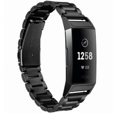 LN ranneke Fitbit Charge 3 teräs black