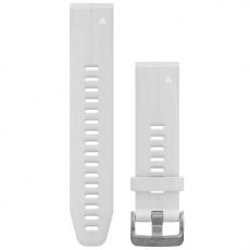 Garmin Fenix 5S/6S ranneke silikoni white and silver